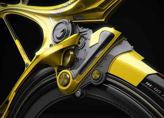 Detalles de bicicleta híbrida que funciona a batería