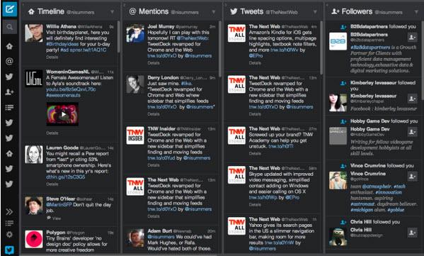 TweetDeck para Chrome y Web renovado con  barra lateral