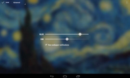 Funciones de aplicación wallpapers para Android