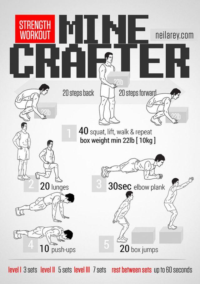 Como hacer ejercicios con pesos en casa infografía