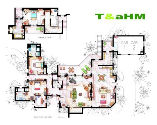 Planos de casa de playa de Charlie Harper de Taahm