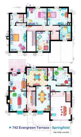 Planos de la casa de los Simpsons