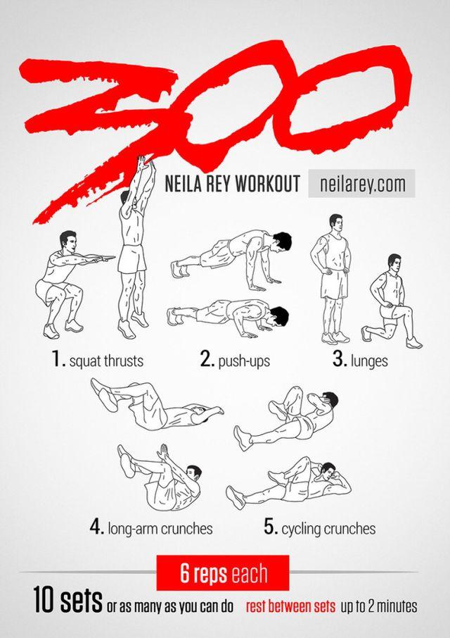 Rutina de ejercicios inspirados en 300 la película