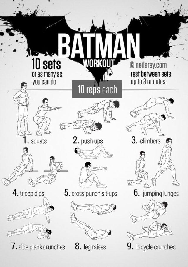 Workouts para hacer en casa inspirados en Batman